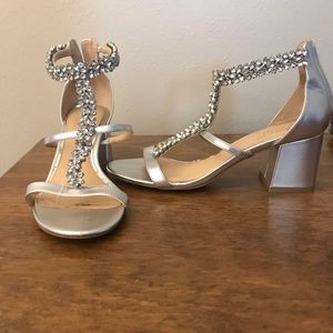 Jewel Badgley Mischa Janica Block Heel